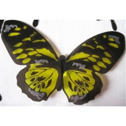 Sticker Papillon 3D  Jaune
