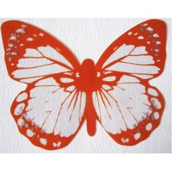 Sticker Papillon 3D  Orange