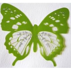 Sticker Papillon 3D  Vert