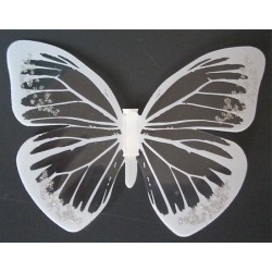 Sticker Papillon 3D  Blanc