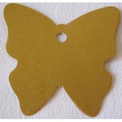 """Etiquette """"Papillon"""" Or nacré"""