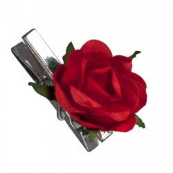 Rose rouge sur mini pince...