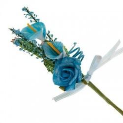 Bouquet de 2 arums et une...