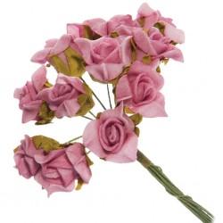 12 mini roses en mousse...