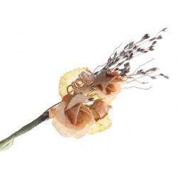 Bouquet de 2 roses Orangé...