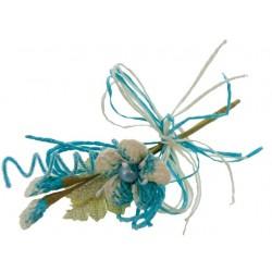 Bouquet de fleurs Turquoise...