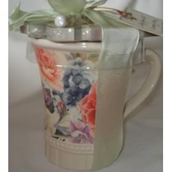 """Mug et Bloc Notes 'Damask Bouquet"""""""