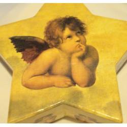 Boîte Etoile Ange avec gant, photophore et Savon Ange Or
