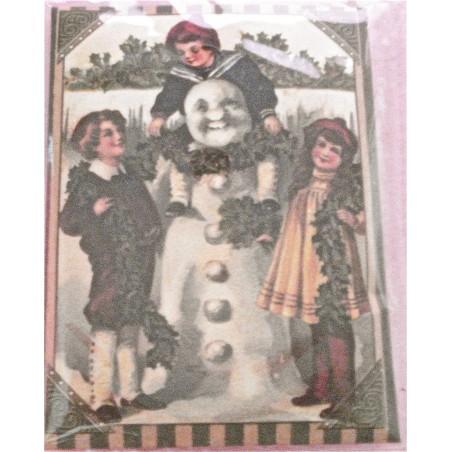 Les enfants et le Bonhomme de neige