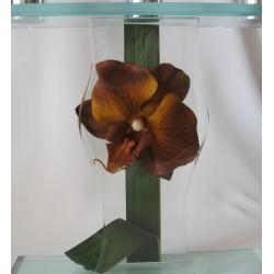 """Chandelier """"Orchidée marron"""""""