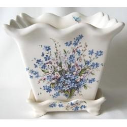 """Cache-pot """"Fleurs bleues"""""""