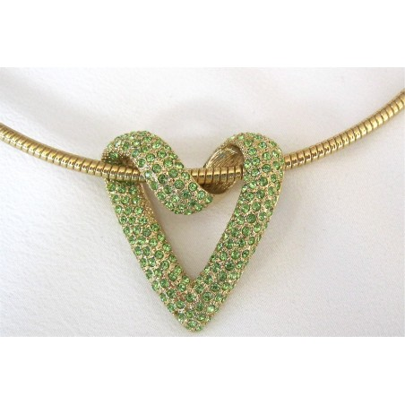 Coeur Cristal Swarovski vert