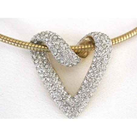 Coeur Cristal Swarovski blanc