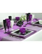 Table de Fêtes Pourpre : Retrouvez notre sélection d'idées déco de couleur Pourpre pour votre table et de votre salle !
